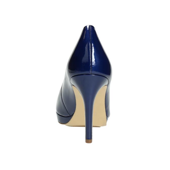 Patent leather pumps hogl, blue , 728-9400 - 17