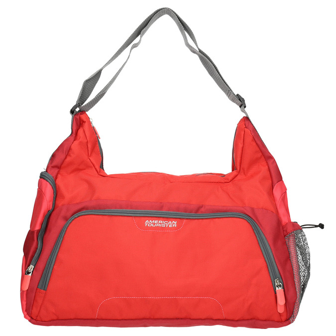Red travel bag, red , 969-5165 - 19