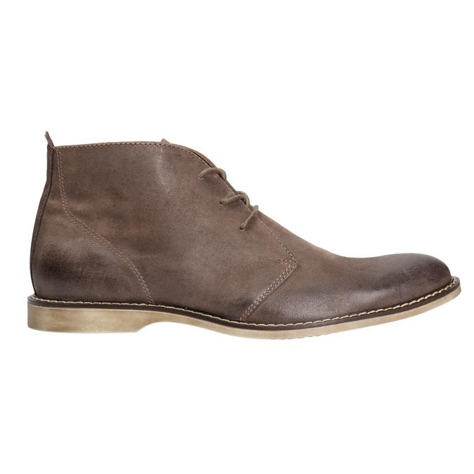 Leather ankle boots bata, brown , 826-4600 - 15