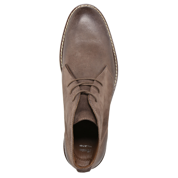 Leather ankle boots bata, brown , 826-4600 - 19
