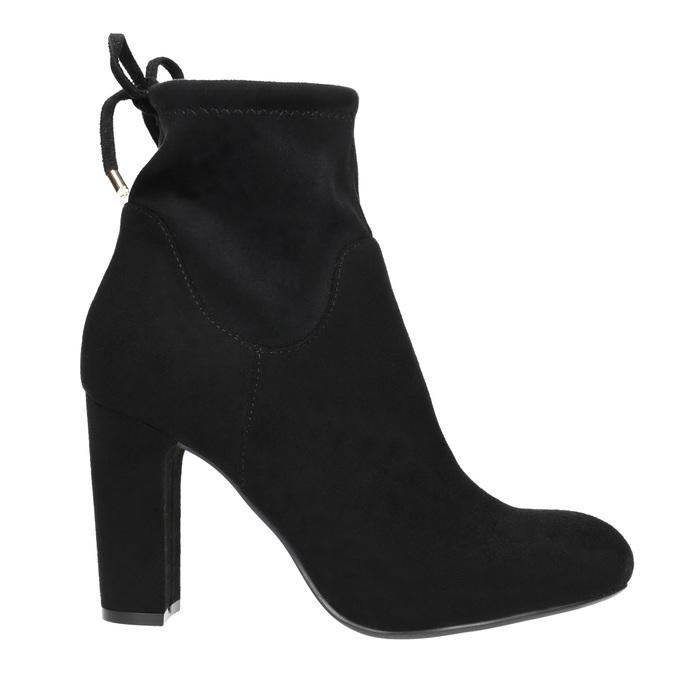Ankle-cut Cossacks on a high heel bata, black , 799-6604 - 15