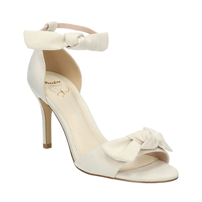 Ladies' sandals with bow insolia, beige , 769-1614 - 13
