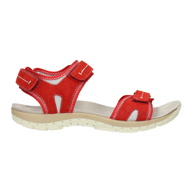 Ladies' red leather sandals weinbrenner, red , 566-5608 - 15