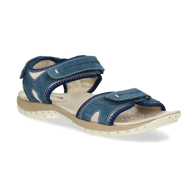Ladies' leather sandals weinbrenner, blue , 566-9608 - 13