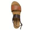 Leather sandals with a white sole weinbrenner, brown , 566-4629 - 19