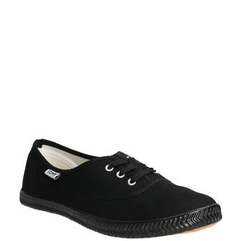Ladies' black sneakers tomy-takkies, black , 589-6180 - 13