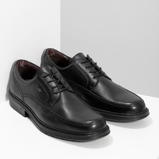 Men's leather dress shoes fluchos, black , 824-6448 - 26
