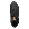 Men's leather high-top sneakers bata, black , 846-6641 - 26
