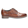 Ladies' leather textured oxford shoes bata, brown , 526-4637 - 15