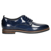 Ladies' leather oxford shoes bata, blue , 528-9600 - 15