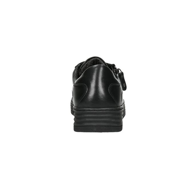 Ladies' leather sneakers bata, black , 526-6630 - 17