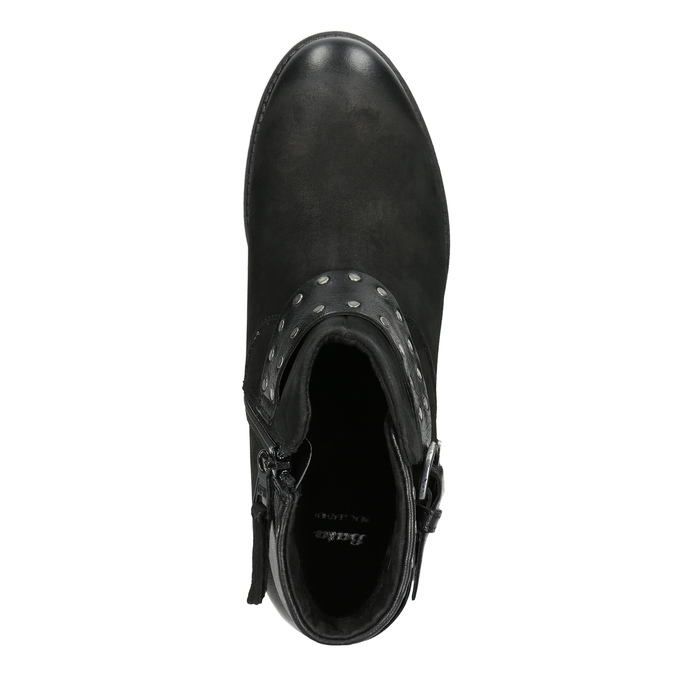 Ladies' studded high ankle boots bata, black , 596-6658 - 15