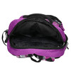 School backpack with print bagmaster, violet , 969-5656 - 15