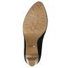 Leather platform pumps pillow-padding, black , 726-6646 - 19