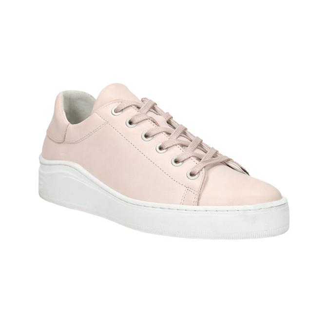 Ladies' leather sneakers bata, pink , 526-5641 - 13