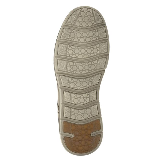 Men's leather shoes weinbrenner, beige , 846-8655 - 17