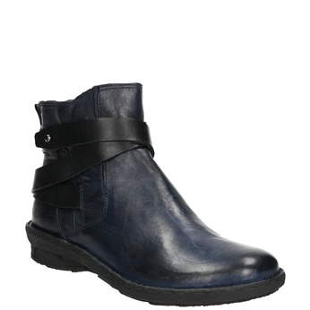Ladies' leather high boots bata, blue , 596-9657 - 13