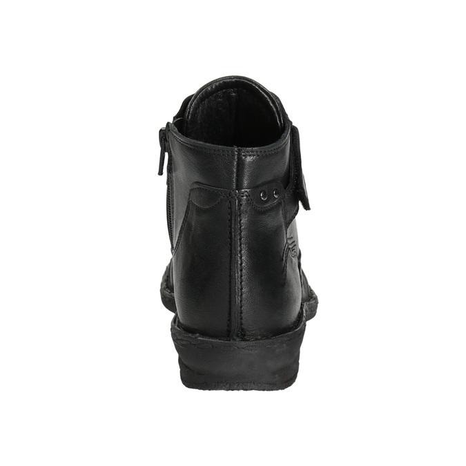 Ladies' ankle boots bata, black , 596-6656 - 17