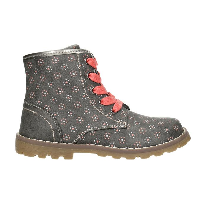 Children's ankle shoes bubblegummer, gray , 221-2606 - 15