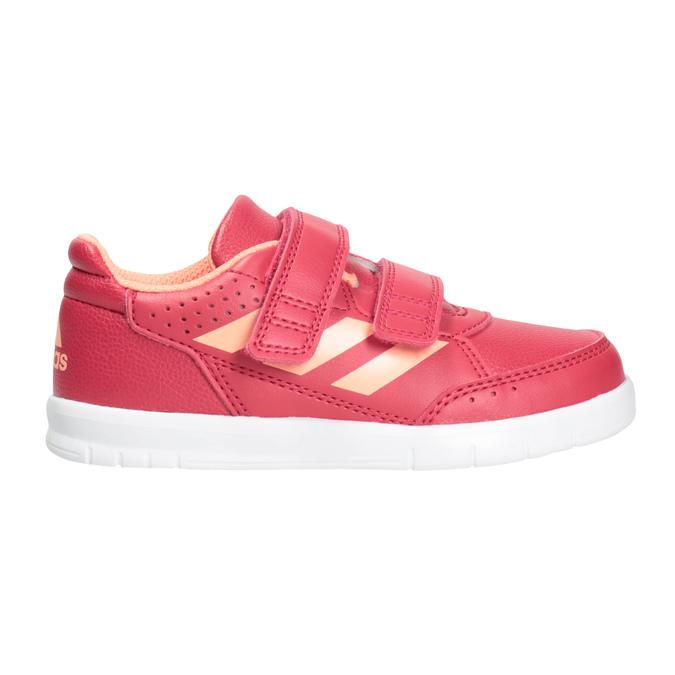Children's Hook-and-Loop Sneakers adidas, pink , 101-5161 - 26