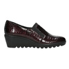 Leather shoes on a wedge heel, red , 628-5631 - 15