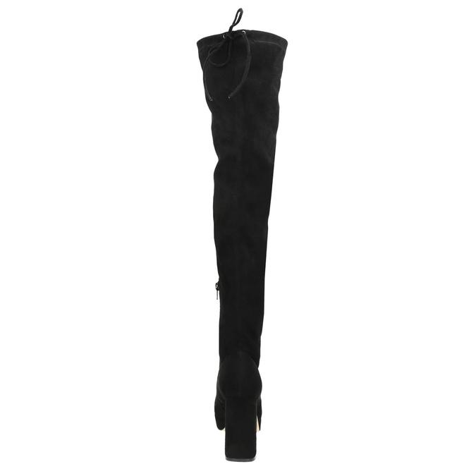 Ladies' black over-knee high boots bata, black , 799-6663 - 17