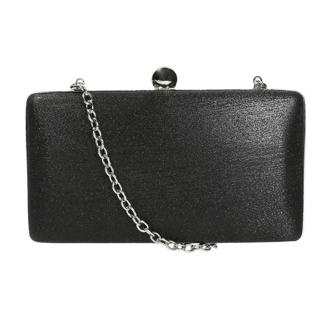 Ladies' solid clutch bata, black , 969-6660 - 26