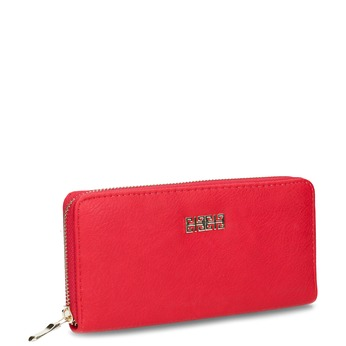 Red ladies' wallet bata, red , 941-5180 - 13