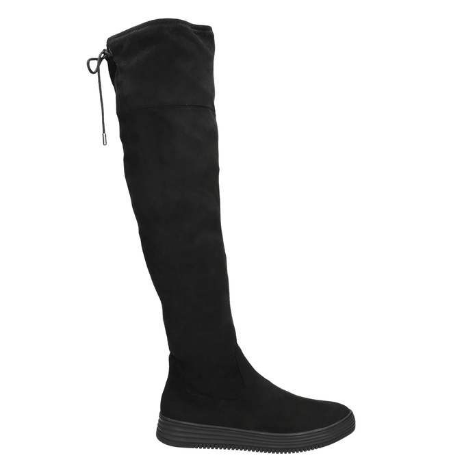 Ladies' black high boots bata, black , 699-6634 - 15