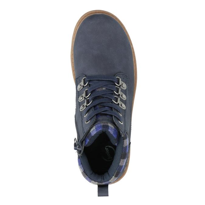Children's blue winter boots weinbrenner-junior, blue , 411-9607 - 26