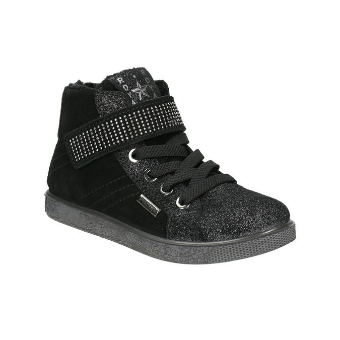 Children's ankle sneakers mini-b, black , 323-6172 - 13