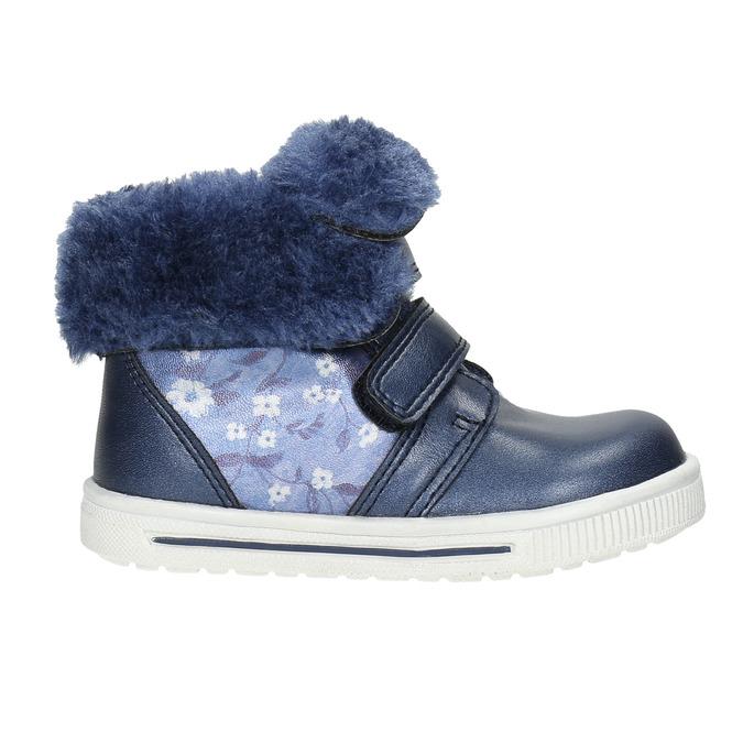 Girls' shoes with fur bubblegummer, blue , 121-9621 - 15