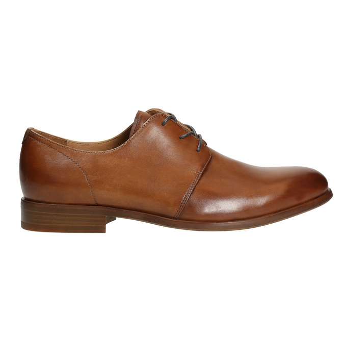 Leather dress shoes bata, brown , 826-3680 - 15