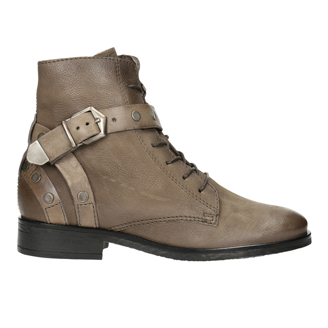 Ladies' Ankle Boots with Buckles bata, brown , 596-4661 - 26