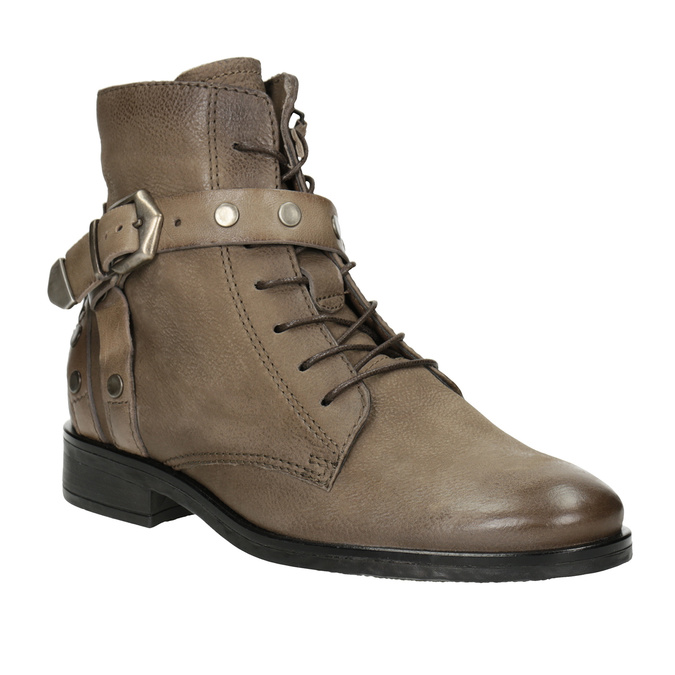 Ladies' Ankle Boots with Buckles bata, brown , 596-4661 - 13