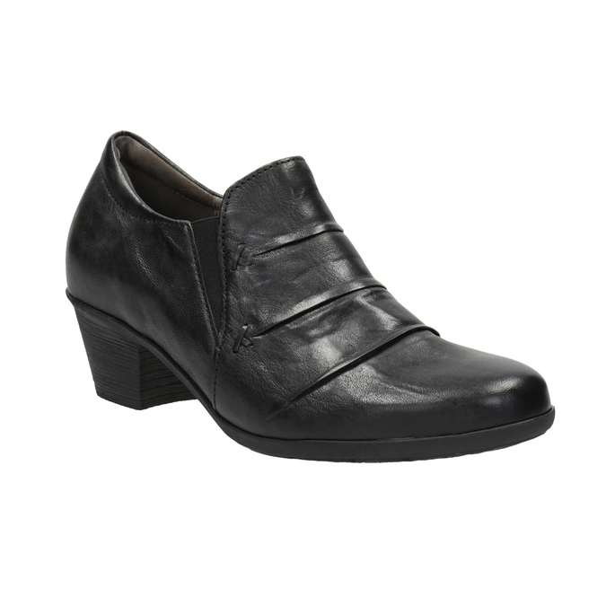 Leather Ankle Boots with Heel gabor, black , 614-6124 - 13