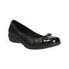 Leather ballerinas with stitching comfit, black , 526-6638 - 13