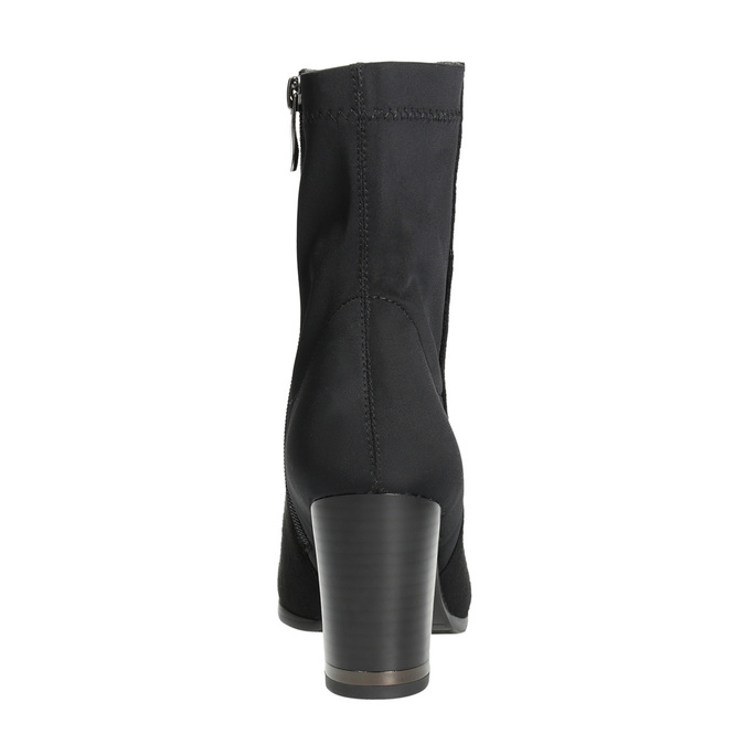 Ankle boots with heels bata, black , 699-6636 - 17