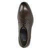 Brown leather Derby shoes bata, brown , 824-4618 - 26