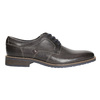 Casual textured leather shoes bata, gray , 826-2612 - 15