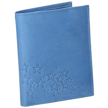 Blue Leather Wallet bata, blue , 944-9179 - 13