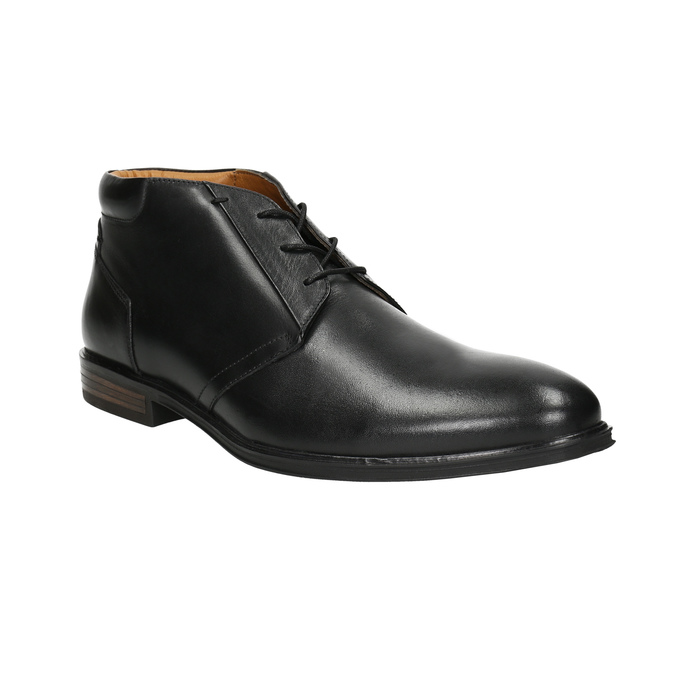 Men's leather ankle boots bata, black , 824-6913 - 13