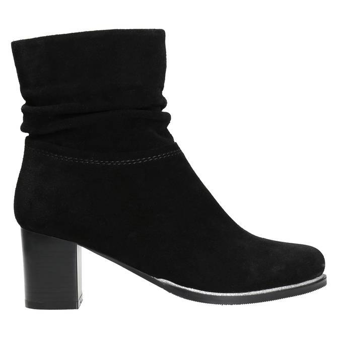 Leather ankle boots bata, black , 693-6602 - 15