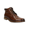 Brown leather ankle boots bata, brown , 896-3674 - 13