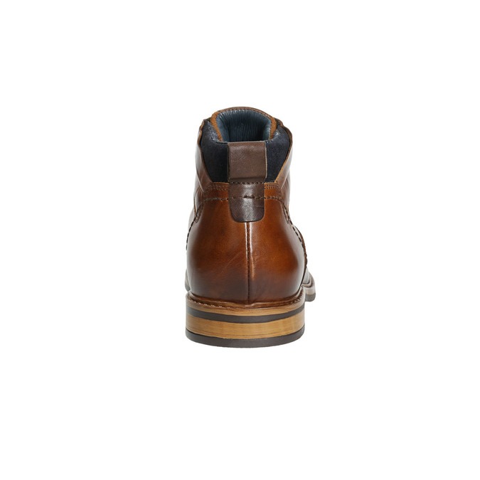 Brown leather ankle boots bata, brown , 896-3674 - 17