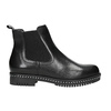 Ladies' leather Chelsea boots with massive sole bata, black , 596-6677 - 15