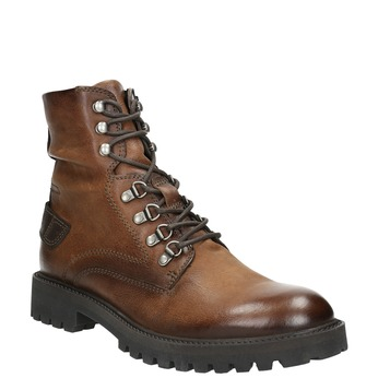 Leather Ankle Boots bata, brown , 896-3663 - 13
