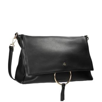 Ladies' Envelope Handbag with Chain bata, black , 961-6164 - 13