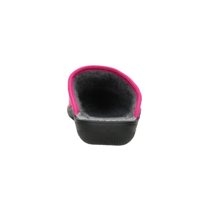 Ladies' Pink Slippers bata, pink , 579-5621 - 17