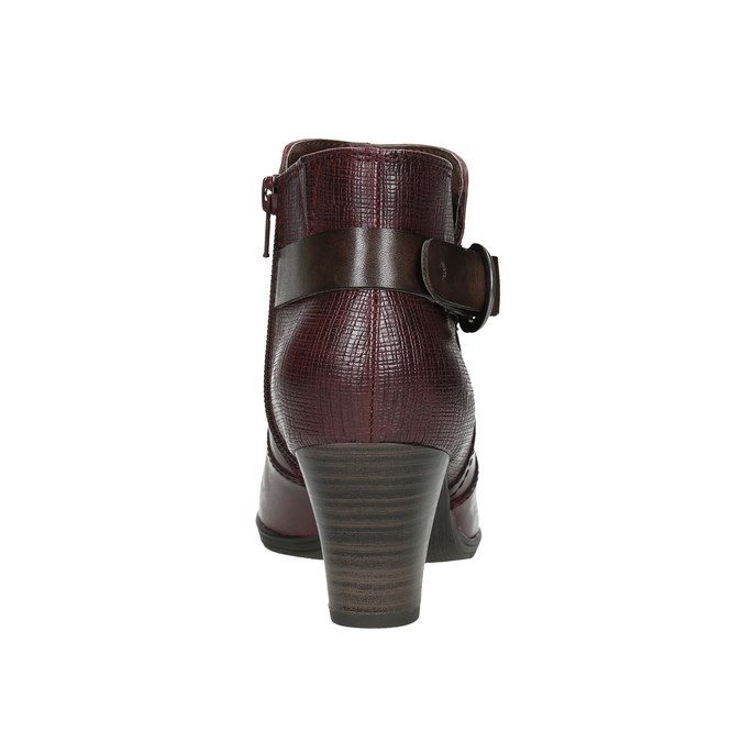 H-width ankle boots bata, red , 696-5625 - 17